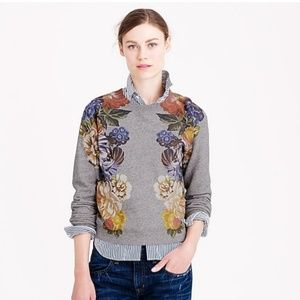 J. Crew Dutch Floral Cropped Sweatshirt